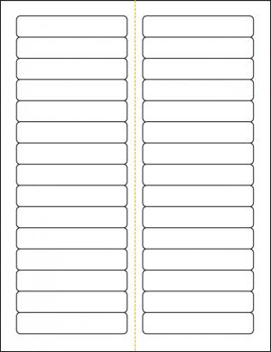 Monroe Data Products 30-Up File Folder Label #125
