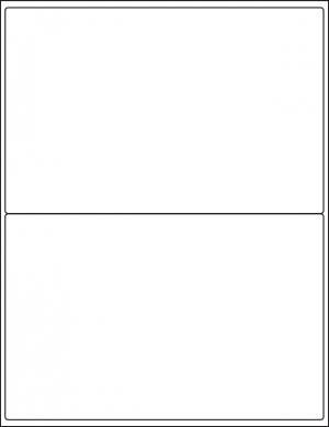Monroe Data Products Label #305 inkjet laser permanent labels 2-up sheets