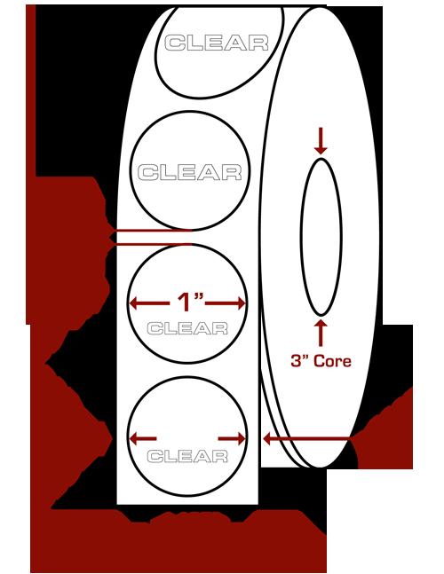 "1"" Round Clear Wafer Seals"